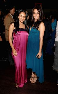 Ramya and Raima Sen at the party for