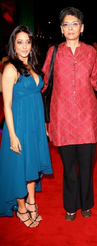 Raima Sen and producer Shernaz Italia at the premiere of