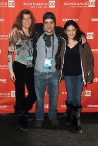 Karen Pritzker, Derick Martini and Cindy Martini at the screening of