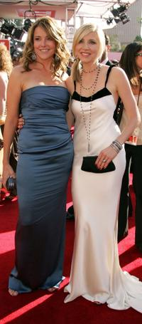 Christa Miller and Sarah Chalke at the 57th Annual Emmy Awards.