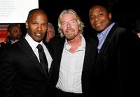 Jamie Foxx, Sir Richard Branson and Doug E. Fresh at the Global Business Coalition Gala dinner and award ceremony.
