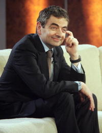 Rowan Atkinson during the broadcast of the German TV-show