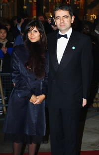 Rowan Atkinson and his wife at the second annual