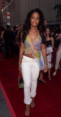 Aaliyah at the world premiere of
