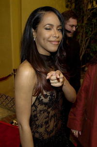 Aaliyah at the premiere of