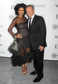 Gelila Puck and Wolfgang Puck at the Dior & Vogue Celebrate The Charlize Theron Africa Outreach Project in California.
