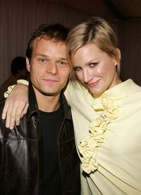 Alec Newman and Alice Evans at the world premiere of