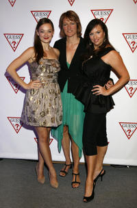 Anna Mae Rotledge, director Katrin Bowen and April Telek at the Guess Portrait Studio during the 2010 Toronto International Film Festival in Canada.