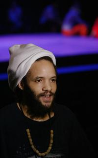 Savion Glover at the opening of his new dance concert Improvography.