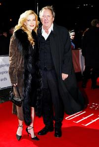 Vadim Glowna and Guest at the European Film Awards 2003.