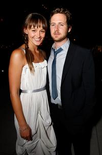 Sharni Vinson and A.J. Buckley at the reveal and launch party of LG Electronics' (LG) Scarlet HD TV series.