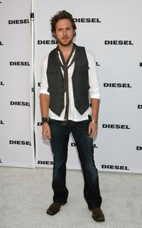 A.J. Buckley at the opening of the Melrose Place Diesel Store.