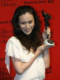 Miki Nakatani at the 1st Asian Film Awards.