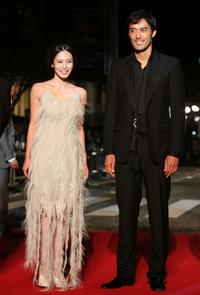 Miki Nakatani and Hiroshi Abe at the 20th Tokyo International Film Festival.