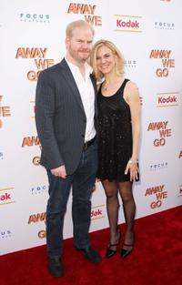Jim Gaffigan and Jeannie Gaffigan at the special New York screening of