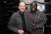 Dan Castellaneta and Gary Anthony Williams at the Luxury Lounge in honor of the 2008 SAG Awards.