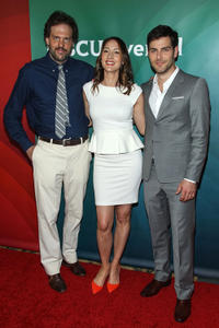 Silas Weir Mitchell, Bree Turner and David Giuntoli at the 2013 NBCUniversal Summer Press Day in California.