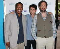 Russell Hornsby, David Giuntoli and Silas Weir Mitchell at the 2012 NBCUniversal Summer Press Day in California.