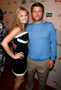 Maggie Lawson and James Roday at the NBC Universal 2008 Press Tour All-Star Party.
