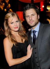 Maggie Lawson and James Roday at the 2009 ALMA Awards.