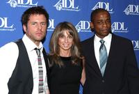 James Roday, Bonnie Hammer and Dule' Hill at the Anti-Defamation League's Entertainment Industry Awards.