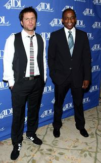 James Roday and Dule' Hill at the Anti-Defamation League's Entertainment Industry Awards.