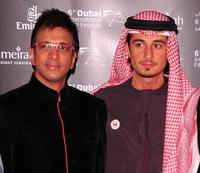Javed Jaffrey and Ali Mostafa at the premiere of