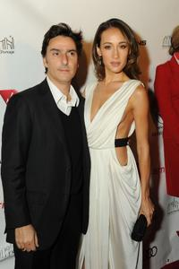 Yvan Attal and Maggie Q at the premiere of