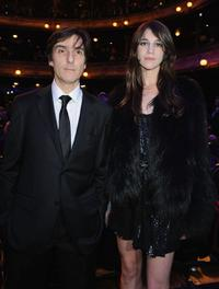 Yvan Attal and Charlotte Gainsbourg at the Cesar Film Awards.