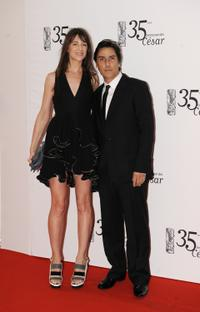 Charlotte Gainsbourg and Yvan Attal at the 35th Cesar's French Film Awards Ceremony.