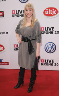 Jasmin Schwiers at the 1Live Krone Music Awards in Bochum.