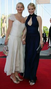 Anna Maria Muehe and Jasmin Schwiers at the German Film Awards (Deutscher Filmpreis).