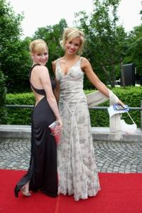 Jasmin Schwiers and Nina-Friederike Gnaedig at the Bavarian Television Awards 2009.