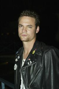 Shane West at the Ed Hardy Hurricane Relief concert benefitting the victims of Hurricane Katrina.