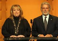 Kathy Bates and Sid Ganis at the 80th Academy Awards nominations.