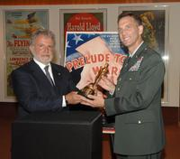 Sid Ganis and Brigadier General Jeffrey E. Phillips at the