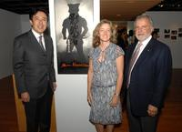 Kazutaka Hori, Ellen Harrington and Sid Ganis at the Academy of Motion Picture Arts and Sciences' salute to Director Akira Kurosawa.