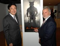 Kazutaka Hori and Sid Ganis at the Academy of Motion Picture Arts and Sciences' salute to Director Akira Kurosawa.