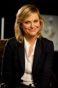 Amy Poehler on the set of