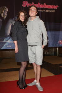 Alice Dwyer and Frederick Lau at the Berlin premiere of