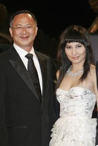 Director Johnnie To and Josie Ho at the premiere of