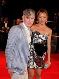 Christopher Doyle and Rain Li at the premiere of
