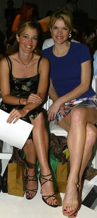Christina Moore and Missy Pyle at the Mercedes Benz Fashion Week: Naqada.