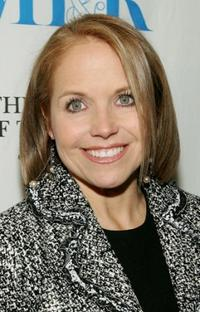Katie Couric at the launch party for the exhibit