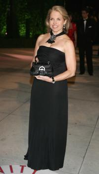 Katie Couric at the Vanity Fair Oscar Party.