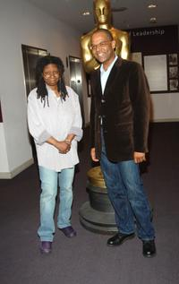 Whoopi Goldberg and Patrick Harrison at the New York screening of