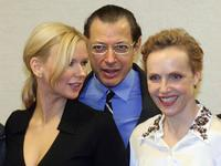 Jeff Goldblum, Veronica Ferres and Juliane Koehler at the Berlin presentation of the movie project of ?Adam Resurrected?.