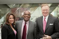 Linda Baquero, Al Roker and Chuck Scarborough at the Profiles In Courage: A Kennedy Legacy.