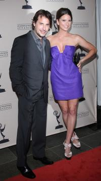 Ricky Paull Goldin and Shelley Hennig at the Daytime Emmy Nominees Reception.