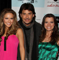 Chrishell Stause, Ricky Paull Goldin and Melissa Claire Egan at the 5th Annual ABC and SOAPnet Broadway Cares/Equity Fights AIDS benefit in New York.